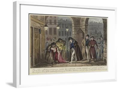Life in London-Isaac Robert Cruikshank-Framed Giclee Print