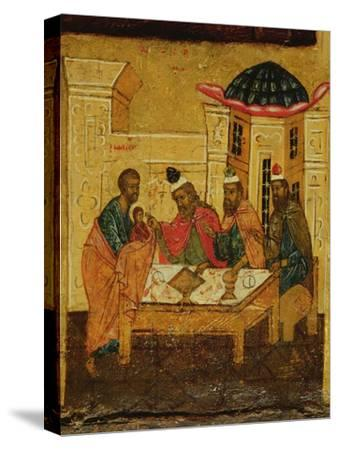 Icon Depicting the Adoration of the Maji, C.1550--Stretched Canvas Print