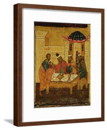 Icon Depicting the Adoration of the Maji, C.1550--Framed Giclee Print