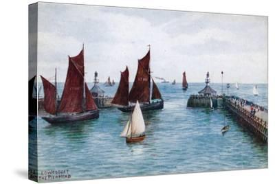 Lowestoft, the Pier Head-Alfred Robert Quinton-Stretched Canvas Print