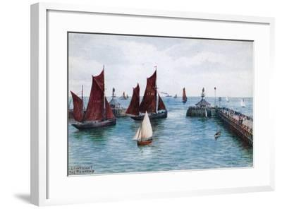 Lowestoft, the Pier Head-Alfred Robert Quinton-Framed Giclee Print