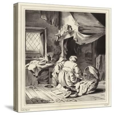 Domestic Scene-Cornelis Bega-Stretched Canvas Print