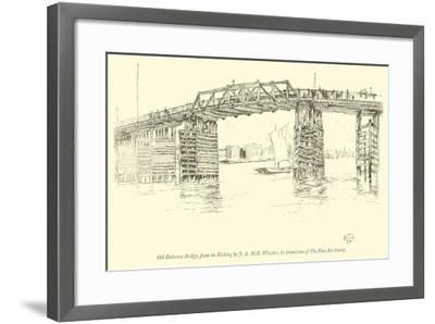 Old Battersea Bridge-James Abbott McNeill Whistler-Framed Giclee Print