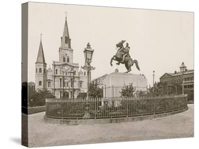 Jackson Square, New Orleans--Stretched Canvas Print