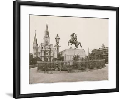 Jackson Square, New Orleans--Framed Photographic Print