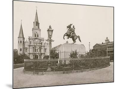 Jackson Square, New Orleans--Mounted Photographic Print