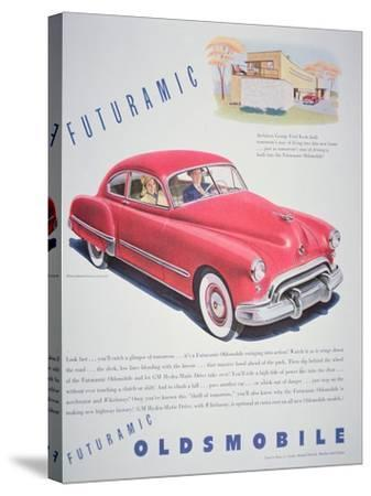 Advertisement for the Oldsmobile Futurmatic, 1948--Stretched Canvas Print