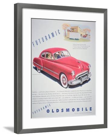Advertisement for the Oldsmobile Futurmatic, 1948--Framed Giclee Print