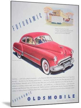 Advertisement for the Oldsmobile Futurmatic, 1948--Mounted Giclee Print