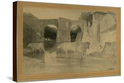Bridge and Cows, C.1803-04-John Sell Cotman-Stretched Canvas Print
