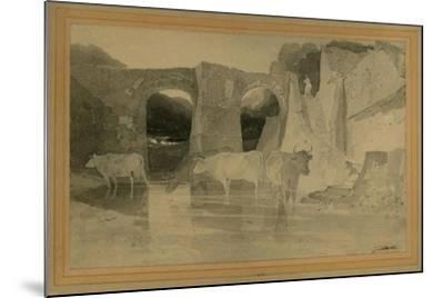 Bridge and Cows, C.1803-04-John Sell Cotman-Mounted Giclee Print