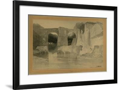 Bridge and Cows, C.1803-04-John Sell Cotman-Framed Giclee Print