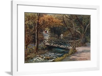 Rustic Bridges, Groudle Glen, I of Man-Alfred Robert Quinton-Framed Giclee Print
