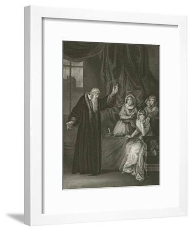 Mary Queen of Scots Reproved by Knox-Robert Smirke-Framed Giclee Print