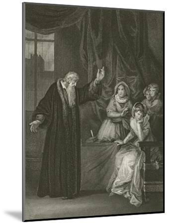Mary Queen of Scots Reproved by Knox-Robert Smirke-Mounted Giclee Print