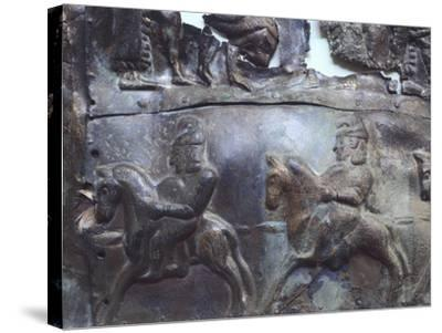 Representation of Heroic Legends, Bronze Plate--Stretched Canvas Print