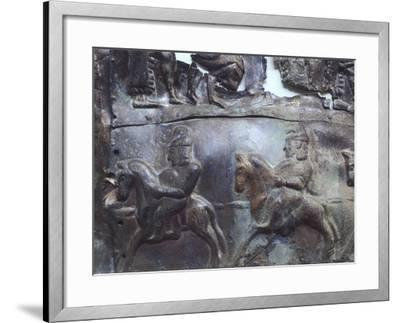 Representation of Heroic Legends, Bronze Plate--Framed Giclee Print