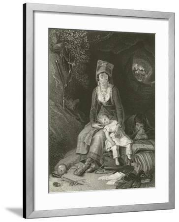 The Brigands Cave-Thomas Uwins-Framed Giclee Print