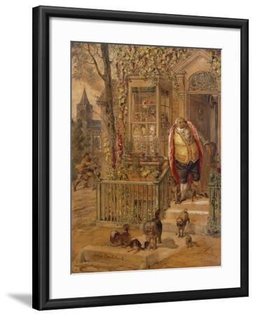 The Run-Away Knock-George Cruikshank-Framed Giclee Print