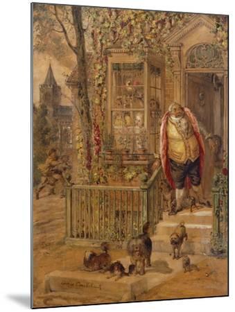 The Run-Away Knock-George Cruikshank-Mounted Giclee Print