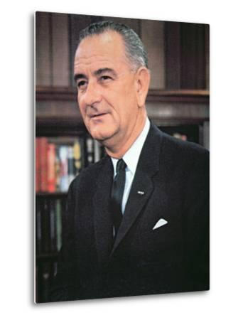 Lyndon B. Johnson--Metal Print