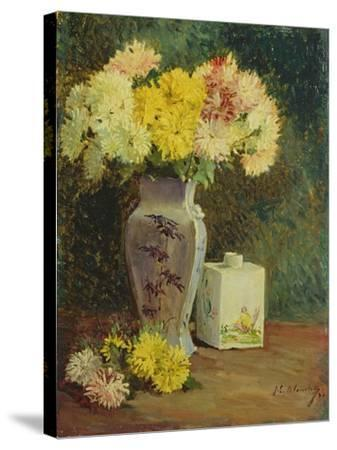 The Chinese Pot, Manet's Studio-Jacques-emile Blanche-Stretched Canvas Print
