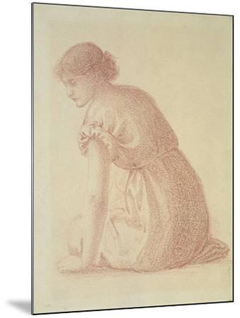 A Seated Figure of a Woman, 19th Century-Edward Burne-Jones-Mounted Giclee Print