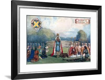 King Offa with St Alban's Skull, 793--Framed Giclee Print