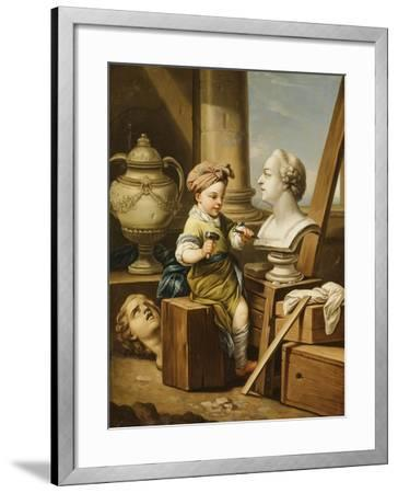 The Four Arts - Sculpture-Carle van Loo-Framed Giclee Print
