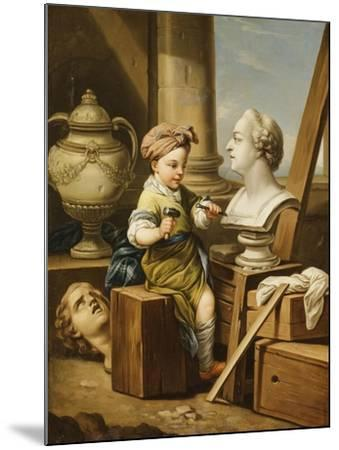 The Four Arts - Sculpture-Carle van Loo-Mounted Giclee Print