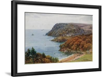 Salcombe, Bolt Head and North Sands-Alfred Robert Quinton-Framed Giclee Print