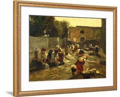 Women Washing in River-Filippo Palizzi-Framed Giclee Print