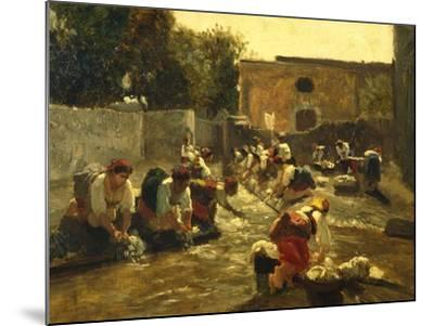 Women Washing in River-Filippo Palizzi-Mounted Giclee Print