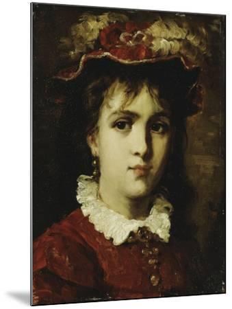 Portrait of a Young Girl, 1876-Leon Joseph Florentin Bonnat-Mounted Giclee Print