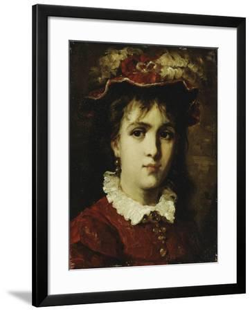 Portrait of a Young Girl, 1876-Leon Joseph Florentin Bonnat-Framed Giclee Print