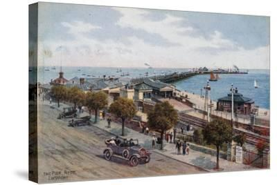 The Pier, Ryde, I of Wight-Alfred Robert Quinton-Stretched Canvas Print