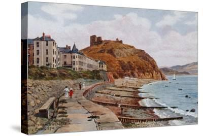 Marine Terrace and Castle, Criccieth-Alfred Robert Quinton-Stretched Canvas Print