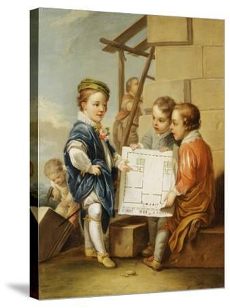 The Four Arts - Architecture-Carle van Loo-Stretched Canvas Print