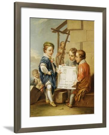 The Four Arts - Architecture-Carle van Loo-Framed Giclee Print