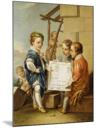 The Four Arts - Architecture-Carle van Loo-Mounted Giclee Print