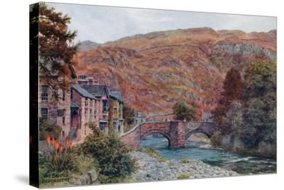 The Bridge, Beddgellert-Alfred Robert Quinton-Stretched Canvas Print