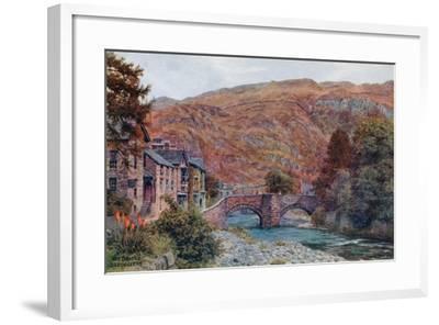 The Bridge, Beddgellert-Alfred Robert Quinton-Framed Giclee Print