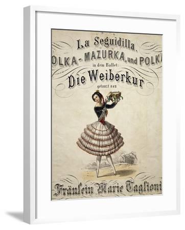 Ballerina Marie Taglioni--Framed Giclee Print