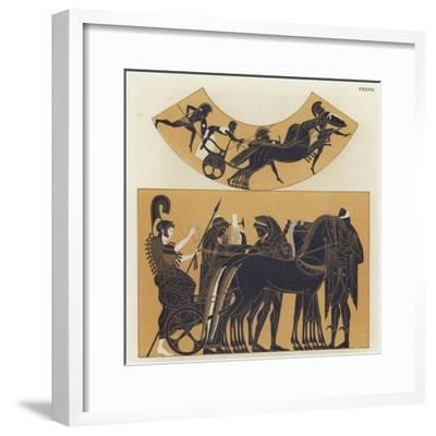 Chariot Scenes from Ancient Greece--Framed Giclee Print