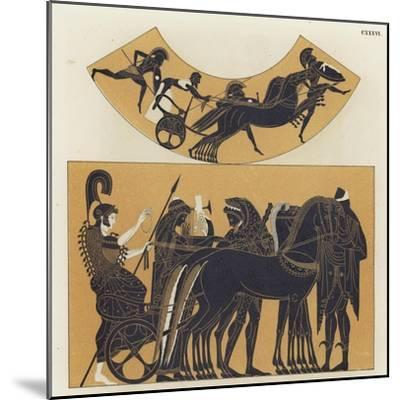 Chariot Scenes from Ancient Greece--Mounted Giclee Print