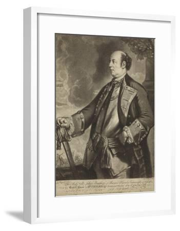 Portrait of Lieutenant General John Manners-Sir Joshua Reynolds-Framed Giclee Print
