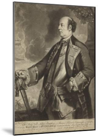 Portrait of Lieutenant General John Manners-Sir Joshua Reynolds-Mounted Giclee Print