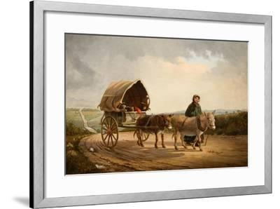 Mrs Ridout Leading Donkeys and a Cart-Frank Brooks-Framed Giclee Print