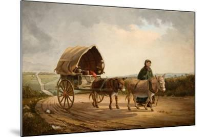 Mrs Ridout Leading Donkeys and a Cart-Frank Brooks-Mounted Giclee Print