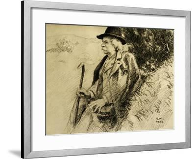 Portrait of Edvard Grieg in Countryside--Framed Giclee Print